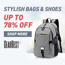 Gearbest Up to 70% OFF for Stylish Bags&Shoes promotion