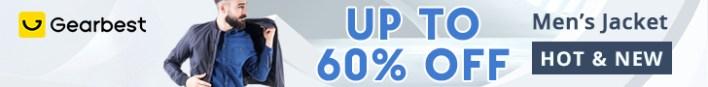 Gearbest Men's Jacket & Coat Promotion promotion