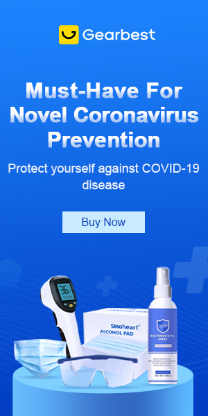 Gearbest Must-Have For Novel Coronavirus Prevention promotion