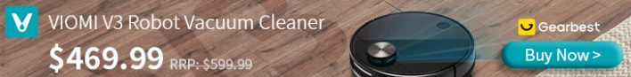 Gearbest VIOMI V3 LDS Laser Navigation Wet and Dry Robot Vacuum Antibacterial system - Germany promotion