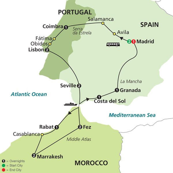 Map Of Spain Morocco And Portugal.Map Of Spain Portugal Year Of Clean Water