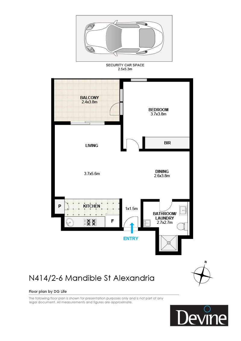 Sold property: $555,000 for 414/4 Mandible Street