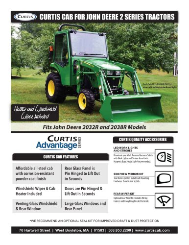 John Deere Tractor Cab Accessories : deere, tractor, accessories, Systems, Deere®, Curtis, Industries, Catalogs, Technical, Documentation, Brochure