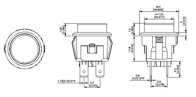 Ul Vde Push Button Switch/illuminated Push Switch / Rocker