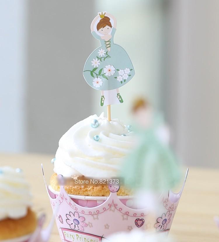 SMIN 24 pi/èces Rose Princesse Couronne bo/îte de Petit g/âteau d/écoration de g/âteau de f/ête danniversaire de Mariage