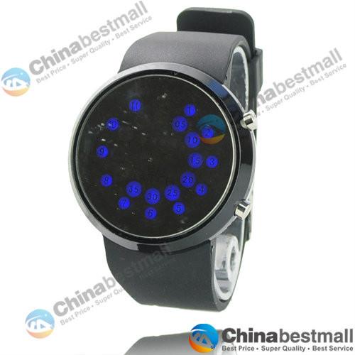 60f0aa836983 Nuevo reloj Digital LED de silicona banda de cuentas de luz espejo ...
