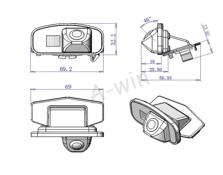 Car backup camera rear For Honda CRV /Odyssey / Fit