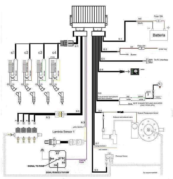 LPG CNG ECU for Bi fuel system on 3 4 cylinders