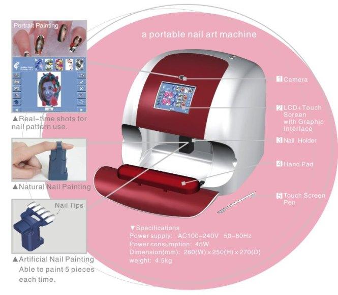 Automatic Multifunctional Nail Art Printing Machine