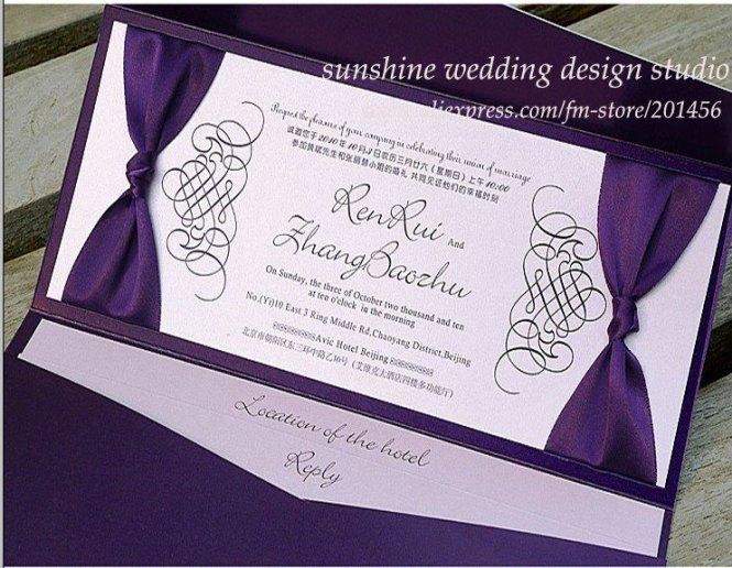 Turquoise And Purple Chic Wedding Invitation