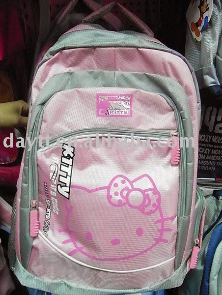 Free Shipping +Hello kitty school bag ackpack/children school bag A263 on