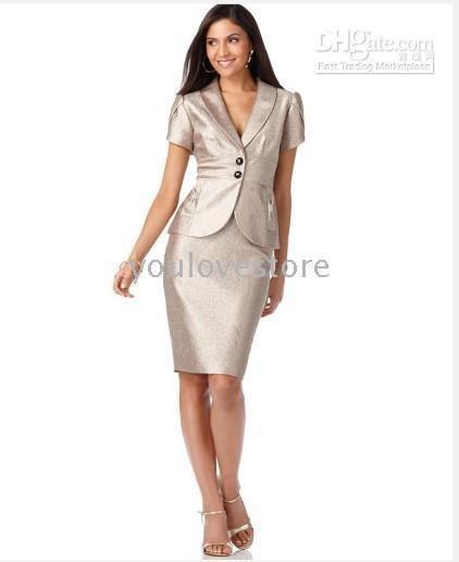 Nºwomen Suit Designer Suit Ruffled Open Jacket Sheath Dress Accept