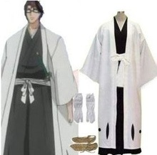 Anime Bleach Cosplay Bleach 5th Division Captain Aizen Sousuke Cosplay Costume Best costume for Halloween Freeshipping