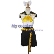 Anime Vocaloid Cosplay Anime Vocaloid Cosplay Kagamine Rin cosplay costume Freeshipping