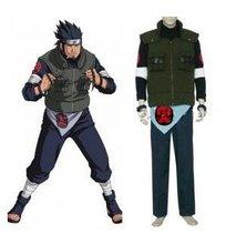 Anime Naruto Cosplay Individual Naruto Asuma Sarutobi Men s Cosplay Costume Freeshipping