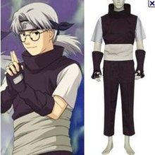 Anime Naruto Cosplay Individual Naruto Yakushi Kabuto Men s Cosplay Costume Freeshipping