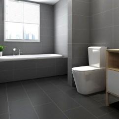 Kitchens And Baths Kitchen With Apron Sink 北欧灰色卫生间瓷砖300600厨房浴室厕所墙砖洗手间防滑地砖仿古砖 时尚城