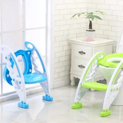 Potty Chair With Ladder Tall Outdoor Chairs New Design Wing Shape Large Baby Toddler Seat Plastic Children S Toilet Trainer Step Stool