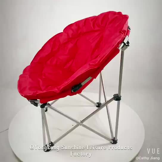 2018 New Folding Round Outdoor Half Moon Chair For Adults