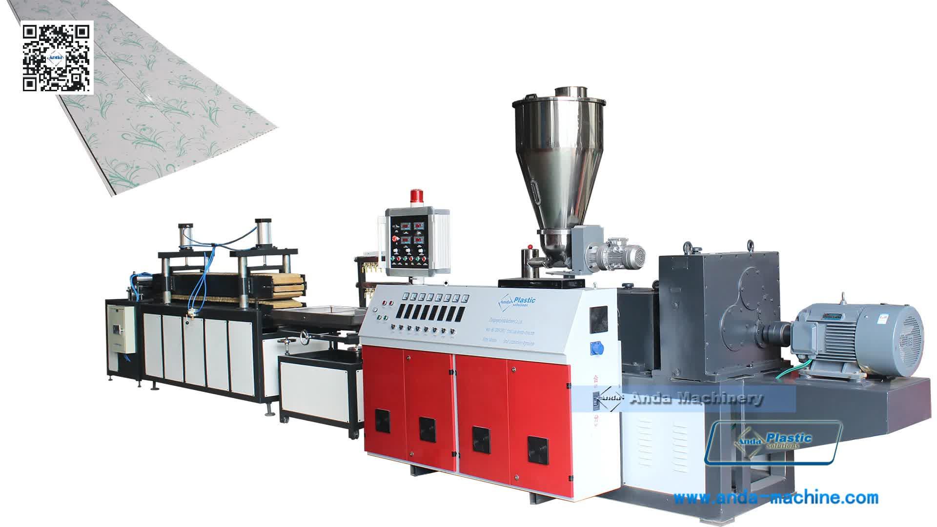 Plastic Pvc Ceiling Board Panel Making Machine