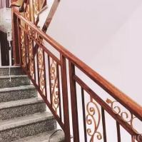 Indoor Wooden Handrail Aluminum Stainless Steel Stair ...