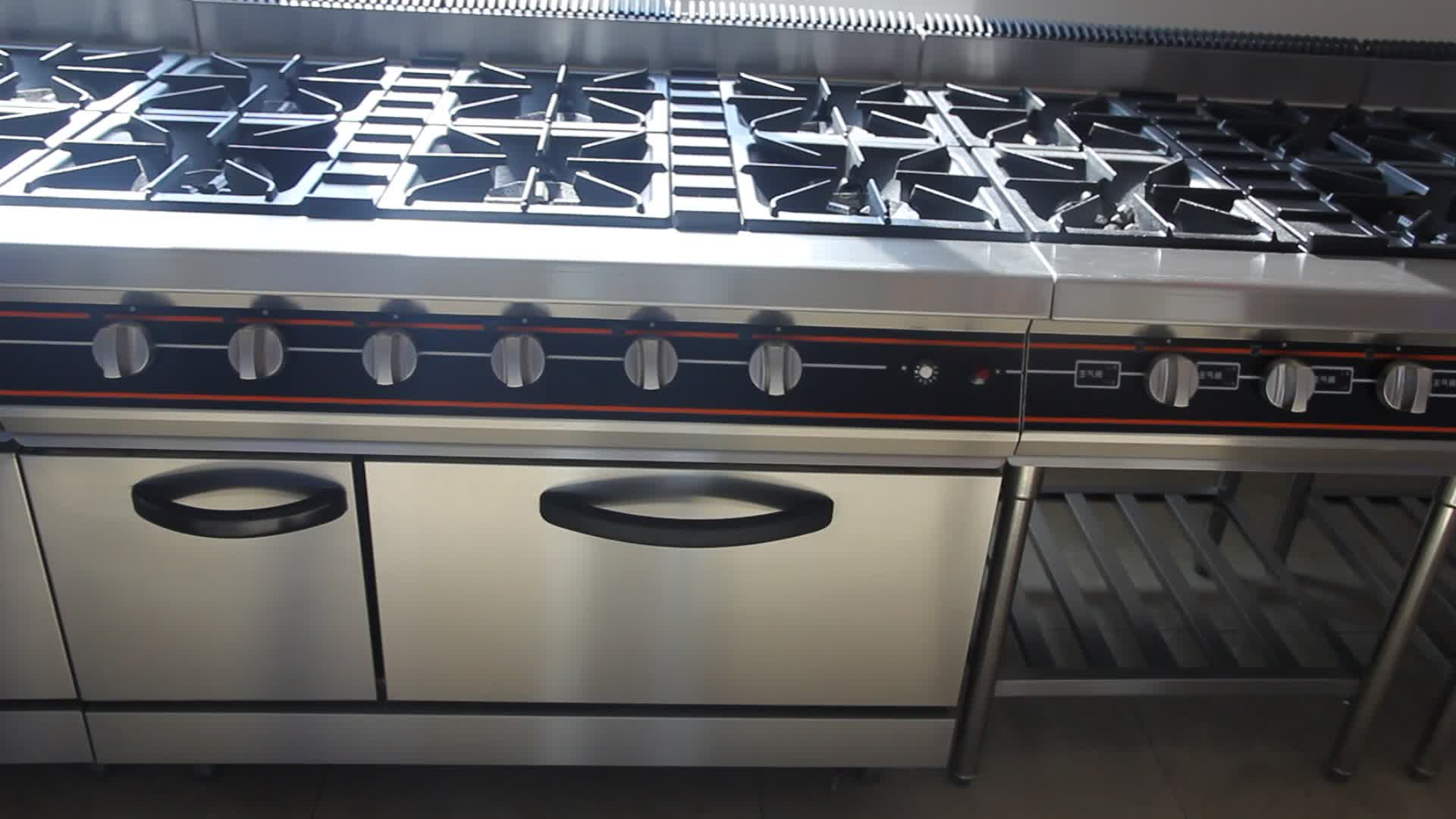 Professional Stainless Steel Hot Kitchen Equipment