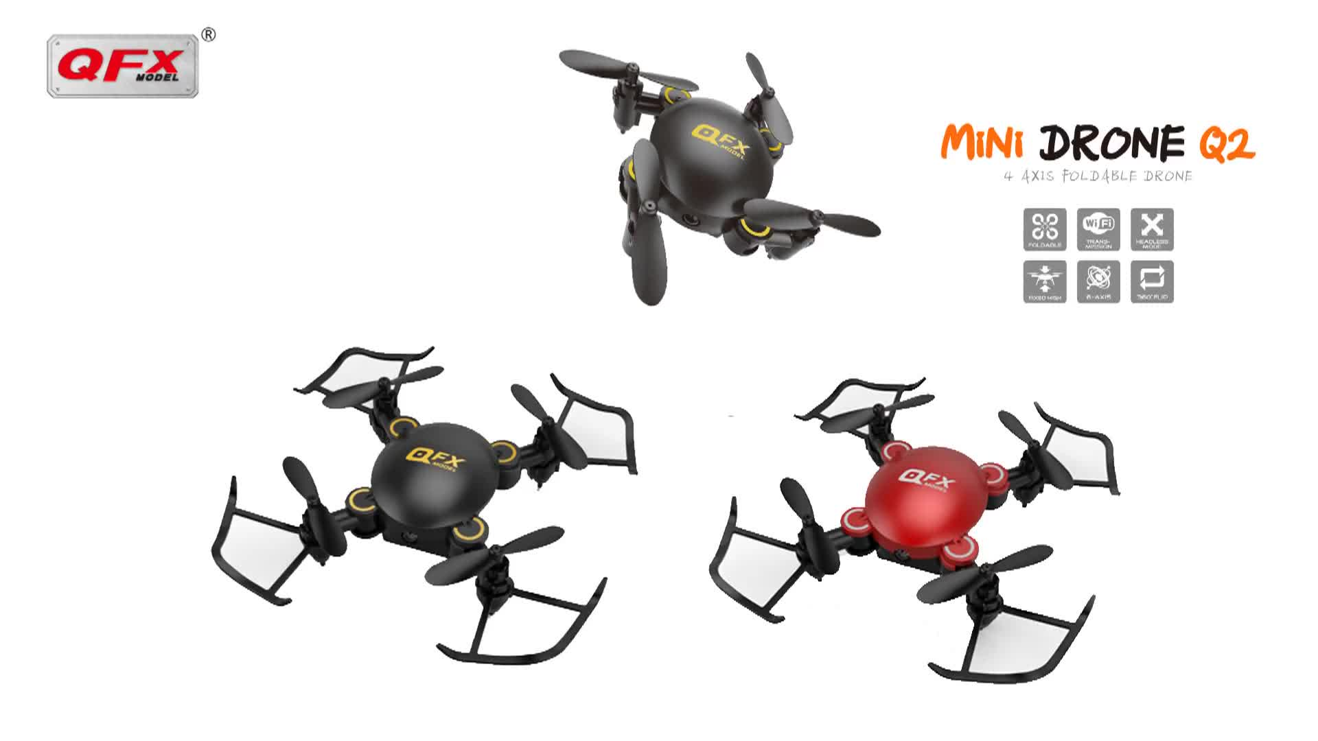Mini Rc Foldable Selfie Drone Q2 Global Drone Newest Wifi