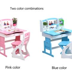 Portable Study Chair Modern And Ottoman Children Pink White Wooden Kids Writing