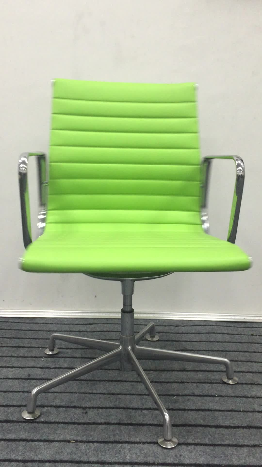 swivel chair without wheels finn juhl 45 2017 red pu middle back executive office conference