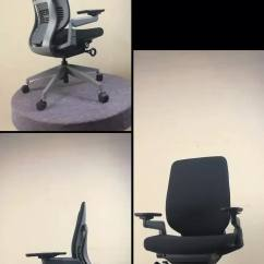 Steelcase Gesture Chair Outdoor Wood Rocking Black High Quality Office Available In Both Fabric And Mesh Upholstery