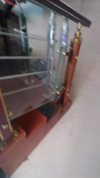 Curved Wrought Iron Tempered Glass Balcony Railings - Buy ...