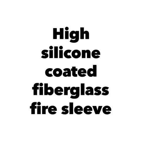 E-glass Braided Fire Sleeve With Oxide Red Silicone Rubber