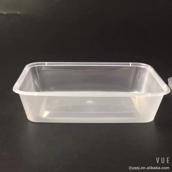 2000ml Clear Rectangular Plastic Lunch Food Packaging