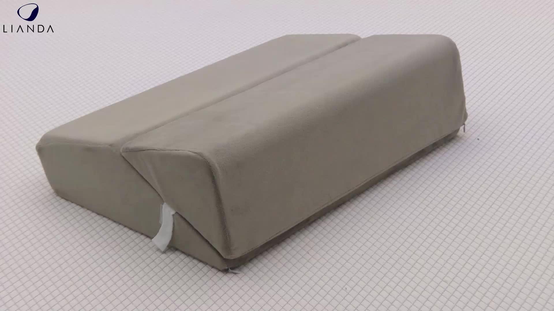 Pregnancy Wedge Sleep Pillow Memory Foam Bed Back Triangle
