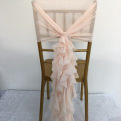 Buy Chair Covers Cheap Broyhill Dining Chairs Discontinued C304n Christmas Pink Chiffon Ruffled