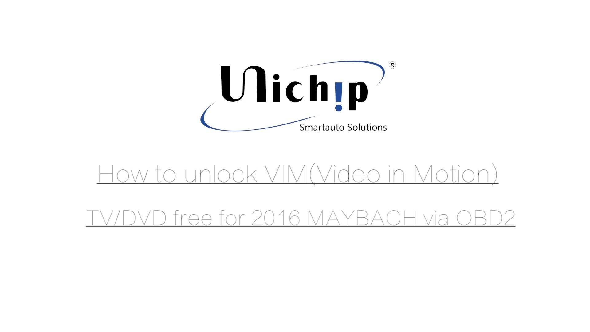 Unichip For Mercedes W221 W204 W212 Tv Unlock Dvd Free Via