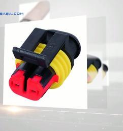 15344054 delphi pa66 2 pin female 2 way lamp socket wire harness connector [ 1920 x 1080 Pixel ]