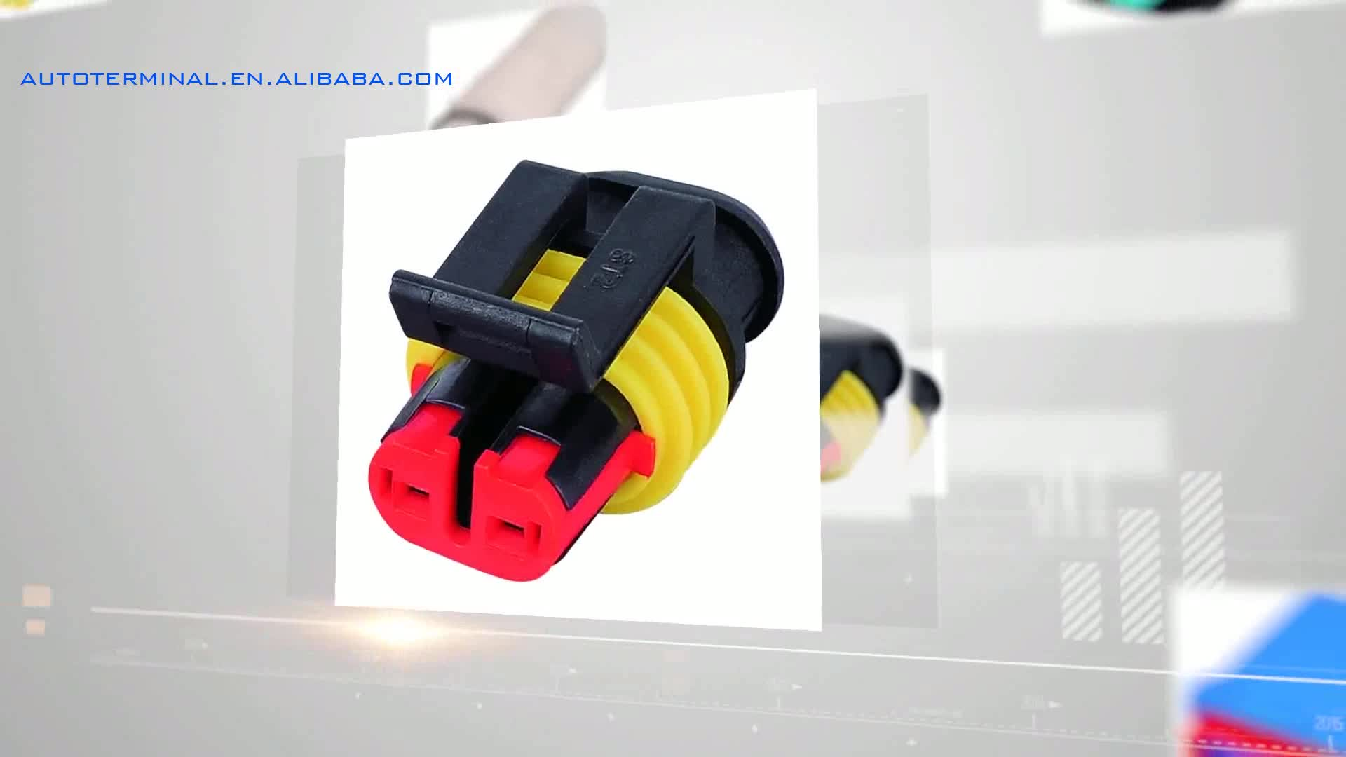 hight resolution of 15344054 delphi pa66 2 pin female 2 way lamp socket wire harness connector