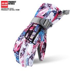南恩NANDN 儿童滑雪手套防风防水保暖手套 防寒骑行登山耐磨手套