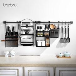 Kitchen Hardware Ikea Pull Out Pantry 欧式黑色钢厨卫置物架厨房五金挂件壁挂挂架挂杆墙上刀架厨房用品 厨房五金