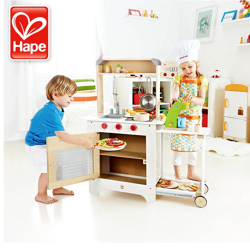 childrens kitchens table for kitchen 一切为了娃的 过家家 废纸箱diy 儿童厨房组合 什么值得买 儿童厨房