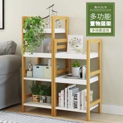 Kitchen Bookshelf Sink Ideas 木质简易客厅卧室储物架厨房书架 价格 图片 优惠券 省钱快报
