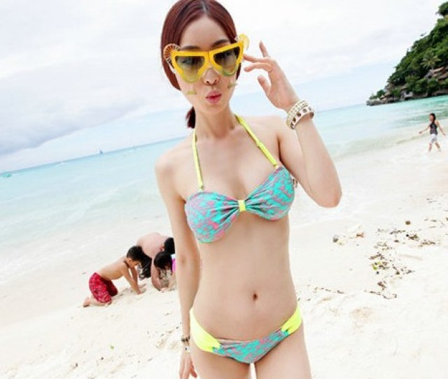 Cheap Look Genuine Spike Special Fluorescent Korea Mimi Sexy Bikini Girl Swimwear Swimsuit Beach Resorttvptpqslrlj From English Agentbuychina Com