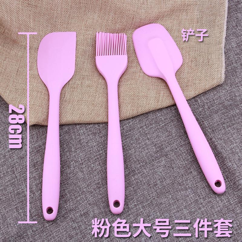 kitchen spatula cupboards freestanding 粉色大号奶油蛋糕一体式硅胶刮刀刷子抹刀耐高温家用厨房