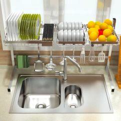 Kitchen Aids Backsplash Tile 不锈钢放碗架沥水架厨房用具置物架收纳篮 528359801886 谈家具