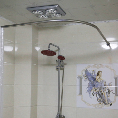 304 stainless steel curved shower