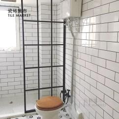 Beveled Subway Tile Kitchen Transformations 北欧风格小白砖100x300 厨房卫生间瓷砖长条白色平面斜面地铁砖 斜面地铁砖厨房