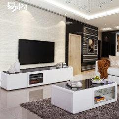 Painting Living Room Furniture White With Yellow Walls Buy Easy Configuration Of Simple Black And Paint Tempered Glass Tv Cabinet Tea Table A Few Combination Packages In Cheap