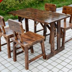 Wooden Restaurant Chairs Nook Tables And Buy Factory Direct Wood Outdoor Patio Bar Coffee Combo Kit Thicken In Cheap Price On
