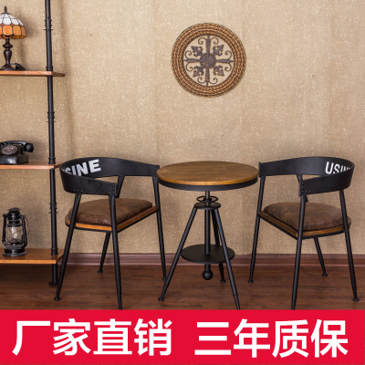 retro cafe table and chairs swing chair outdoor patio buy tables restaurant dessert drinks tea shop small round to discuss the reception combination man hugh solid wood in cheap